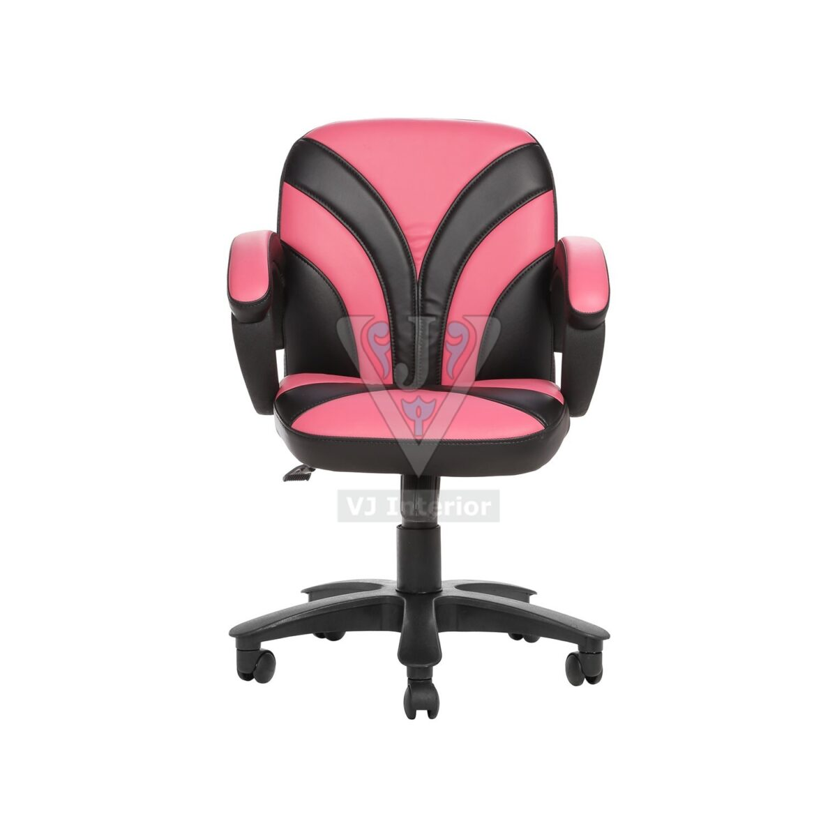 THE FUENTE LB WORKSTAION CHAIR PINK AND BLACK
