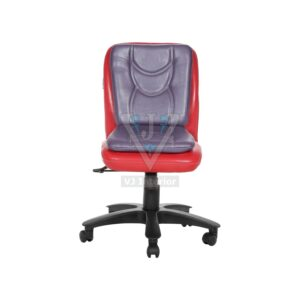 THE LIBRANEJAR LB WORKSTAION CHAIR RED AND PURPLE