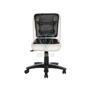 THE LIBRANEJAR LB WORKSTAION CHAIR WHITE AND BLACK