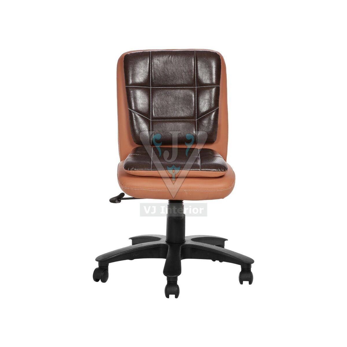 THE LIBRANEJAR LB WORKSTAION CHAIR COPPER AND BROWN