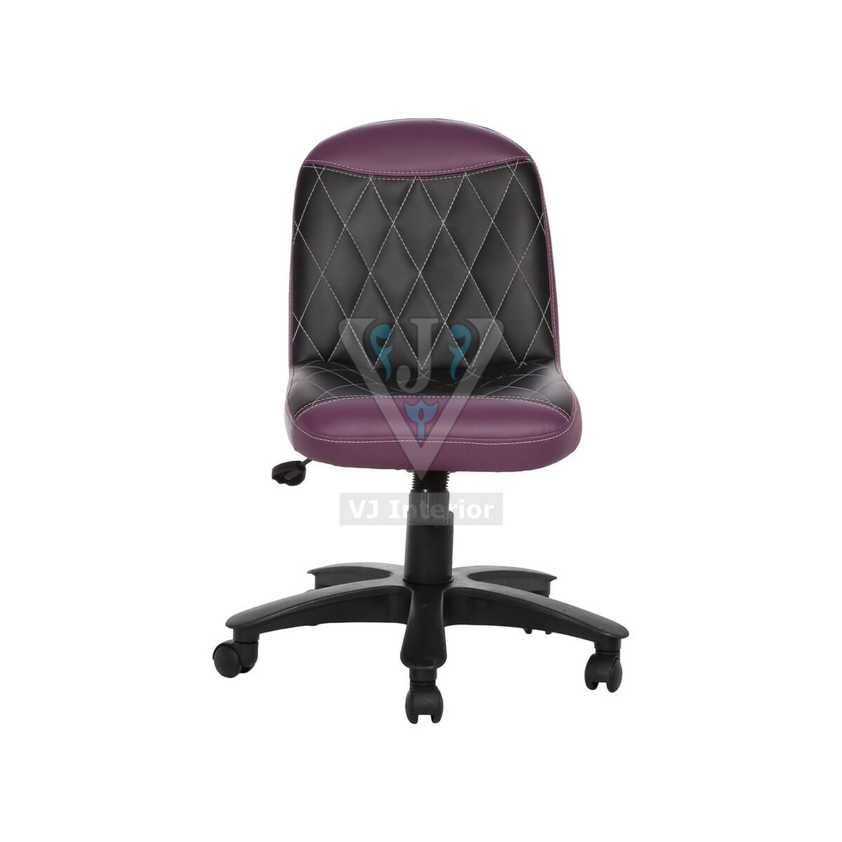 THE LIBRANEJAR LB WORKSTAION CHAIR PURPLE AND BLACK