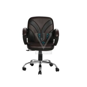 THE FUENTE LB WORKSTAION CHAIR BLACK AND BROWN