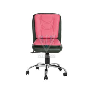THE LIBRANEJAR LB WORKSTAION CHAIR DARK GREEN AND PINK