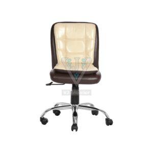 THE LIBRANEJAR LB WORKSTAION CHAIR BROWN AND CREAM