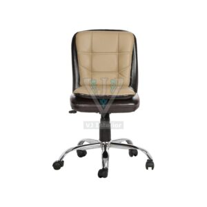 THE LIBRANEJAR LB WORKSTAION CHAIR BROWN AND ALMOND