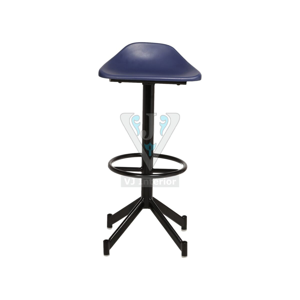 THE MONTAR BAR STOOL BLUE AND BLACK
