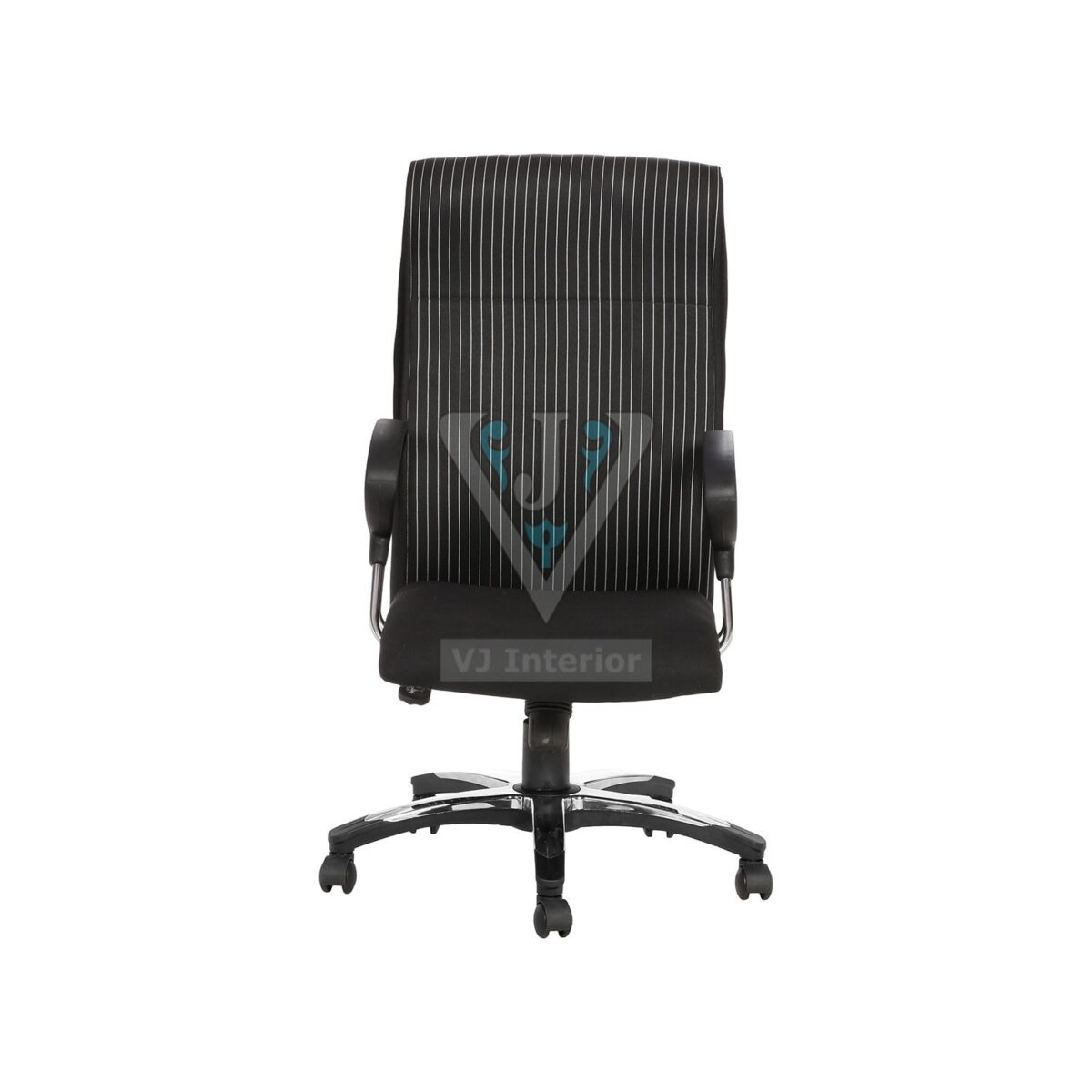THE RAYA HB EXECUTIVE CHAIR BLACK WITH WHITE STRIPES