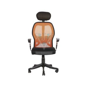 THE GROMALLA HB EXECUTIVE MESH CHAIR ORANGE AND BLACK