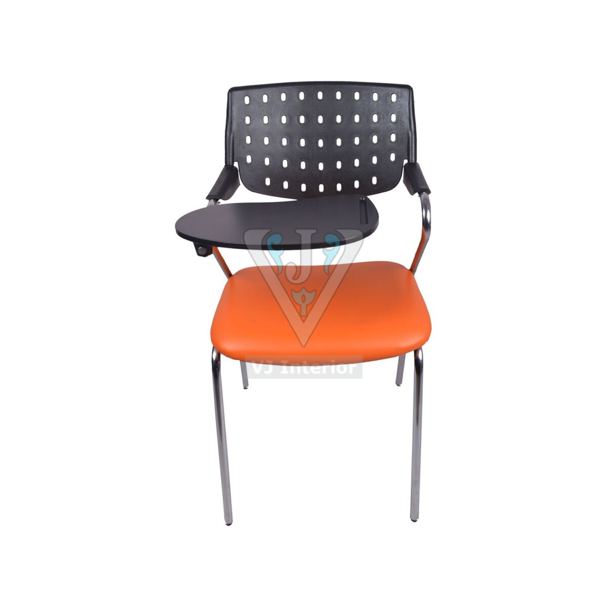THE ALUMNOS WRITING CHAIR BLACK AND ORANGE