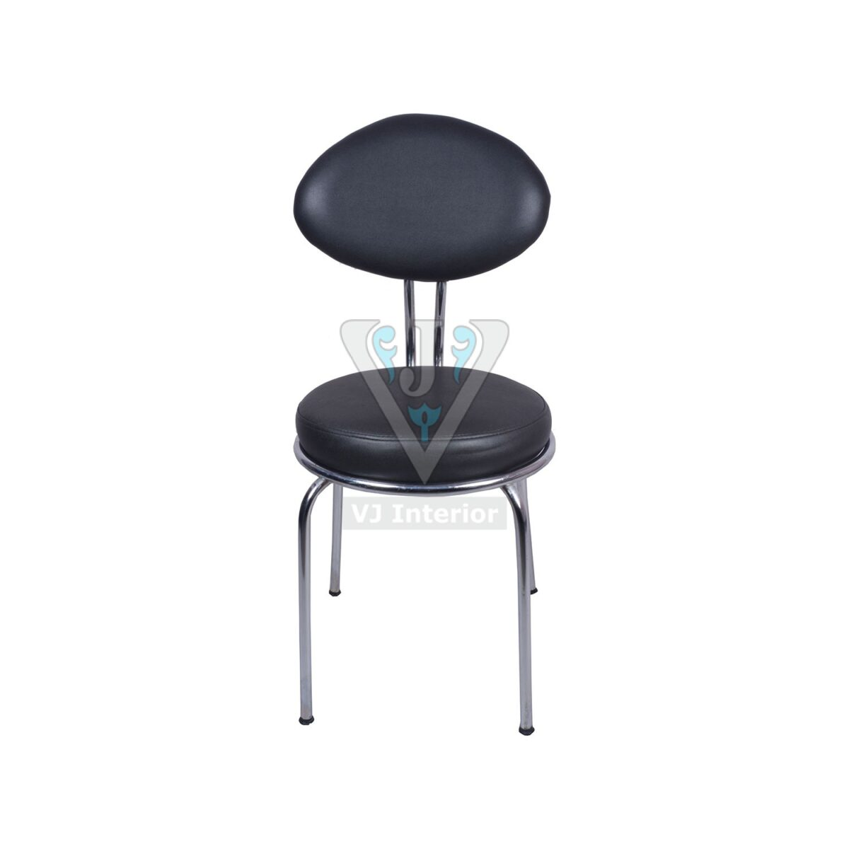 THE SPACIO BLACK VISITOR CHAIR WITH FIX FRAME