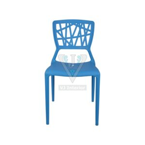 THE ELIMINAR PLASTIC MOLDED CHAIR BLUE