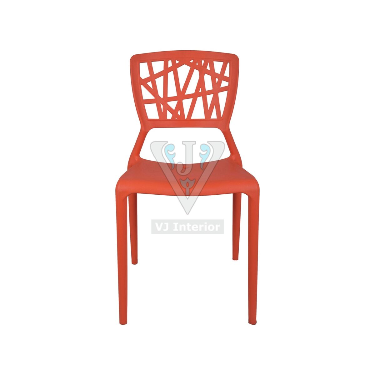 THE ELIMINAR PLASTIC MOLDED CHAIR ORANGE