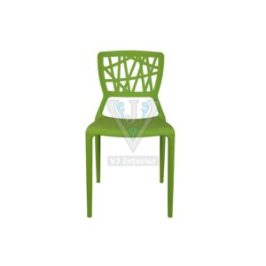 THE ELIMINAR PLASTIC MOLDED CHAIR GREEN