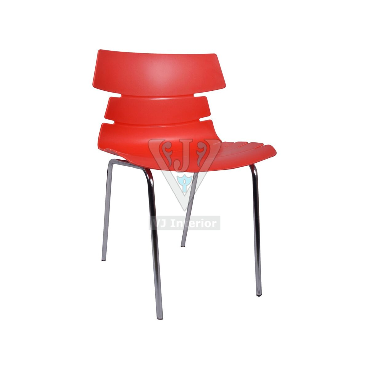THE ALISAR STEEL FRAME PLASTIC CHAIR RED