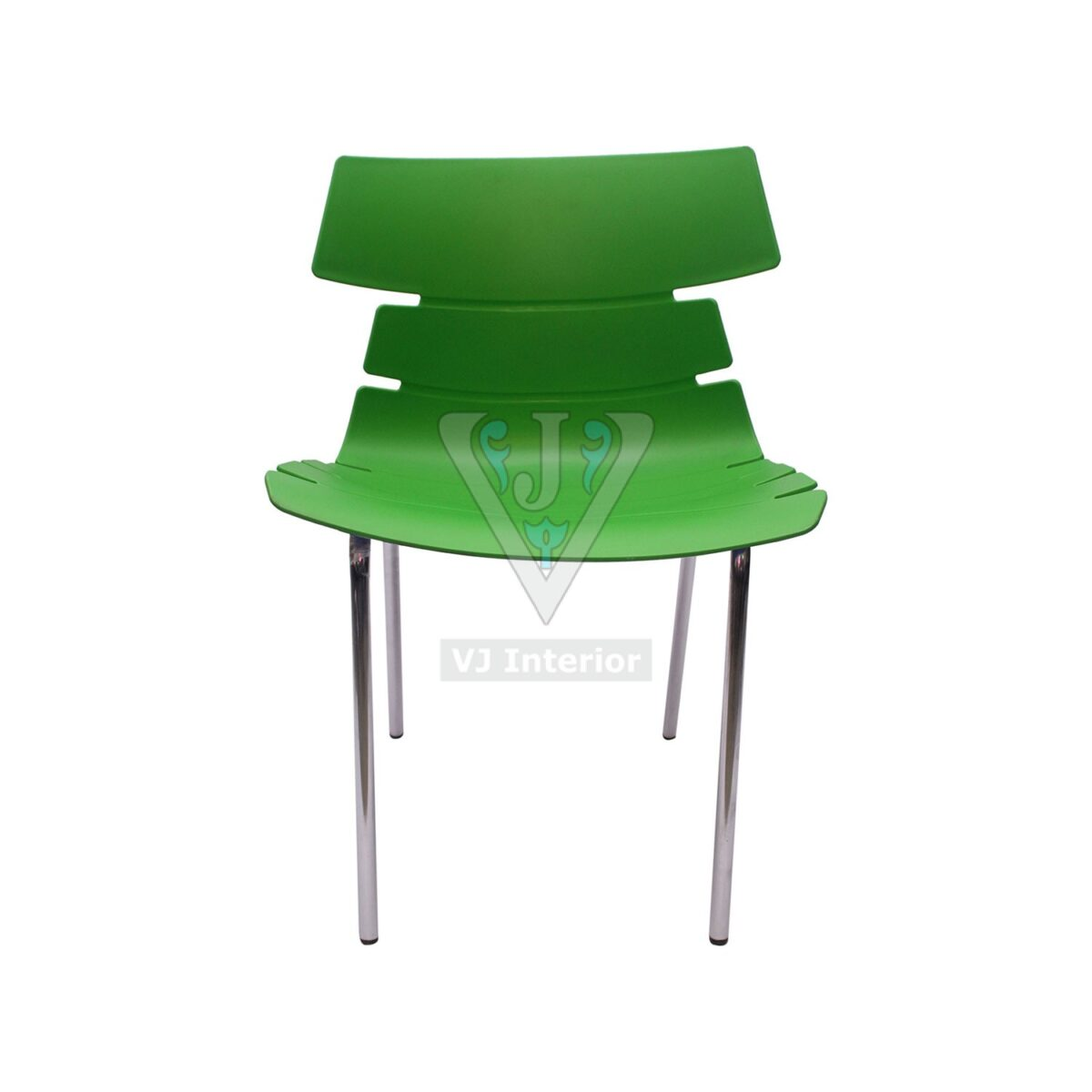 THE ALISAR STEEL FRAME PLASTIC CHAIR GREEN