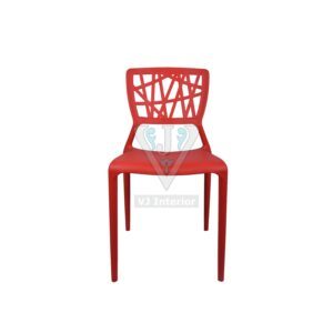 THE ELIMINAR PLASTIC MOLDED CHAIR RED