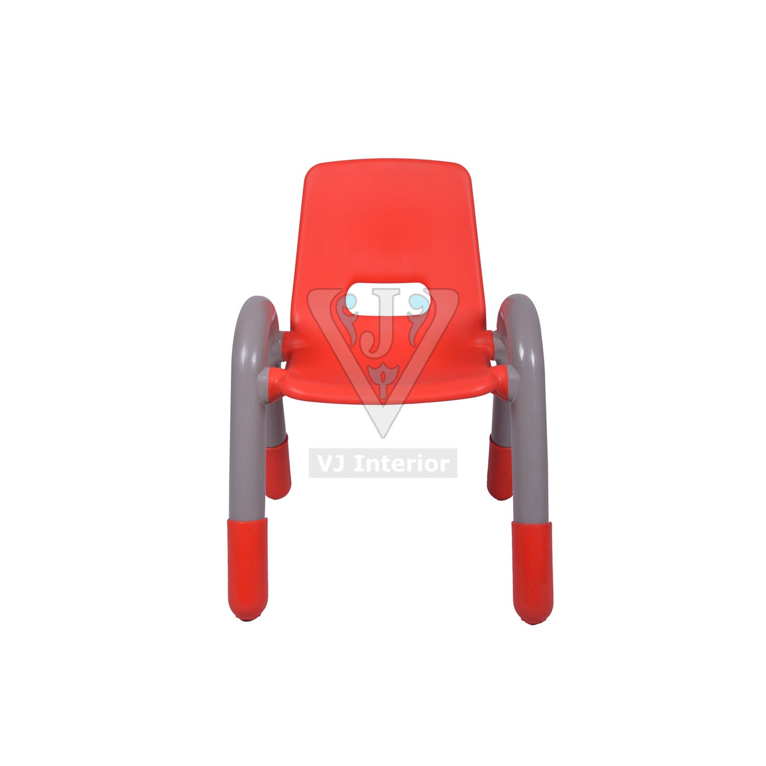 THE VOLVER ENGINEERING PLASTIC KIDS CHAIR RED VJ Interior