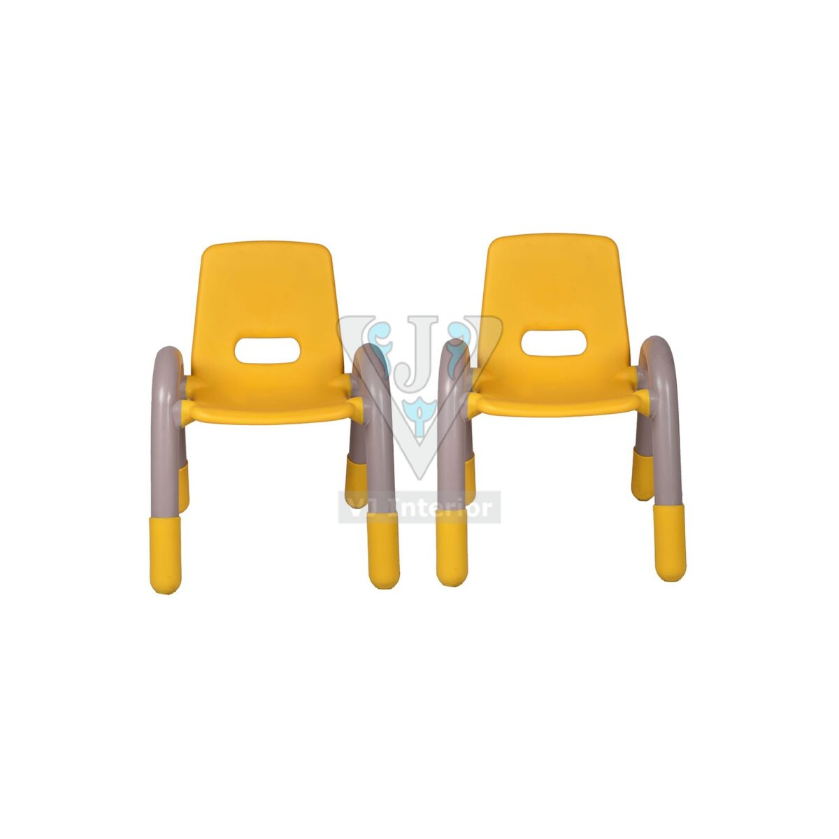 THE VOLVER ENGINEERING PLASTIC KIDS CHAIR YELLOW PAIR