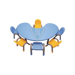 THE BLUE MOON TABLE WITH SIX CHICO CHAIRS