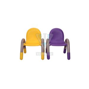 THE CHICO ENGINEERING PLASTIC KIDS CHAIR PURPLE AND YELLOW PAIR