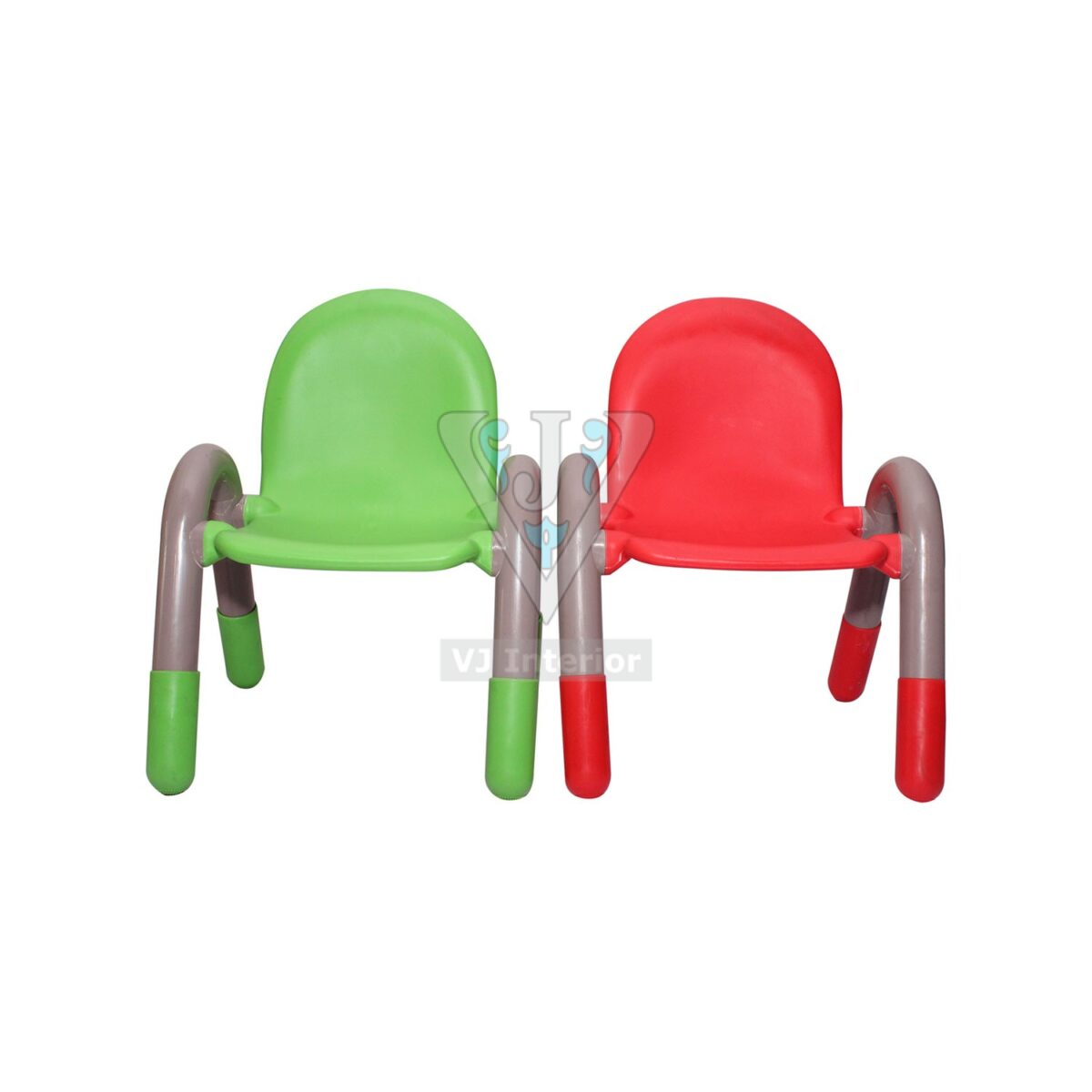 THE CHICO ENGINEERING PLASTIC KIDS CHAIR GREEN AND RED PAIR