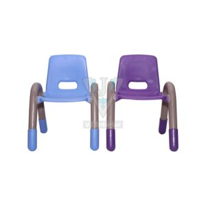 THE VOLVER ENGINEERING PLASTIC KIDS CHAIR BLUE AND PURPLE PAIR