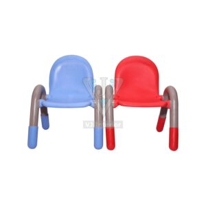 THE CHICO ENGINEERING PLASTIC KIDS CHAIR BLUE AND RED PAIR