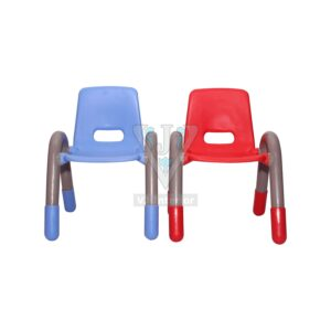 THE VOLVER ENGINEERING PLASTIC KIDS CHAIR BLUE AND RED PAIR