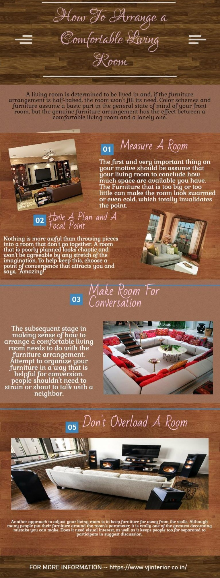 How to arrange living room furniture in a comfortable