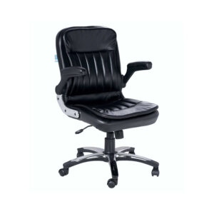 THE RAYS MEDIUM BACK CHAIR IN BLACK COLOR