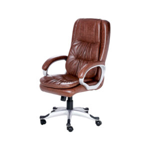 THE ARRUGA EXECUTIVE HIGH BACK CHAIR IN DESIGNER DARK TAN COLOR