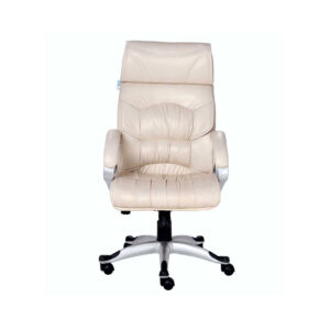 THE DOBLEPIEL EXECUTIVE HIGH BACK CHAIR IN DESIGNER CREAM COLOR
