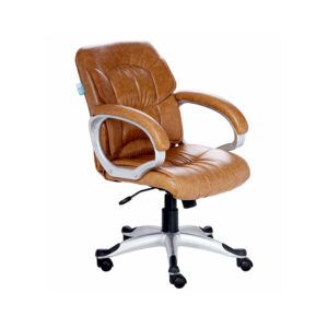 THE SIMPLEPIEL MEDIUM BACK CHAIR IN DESIGNER TAN COLOR
