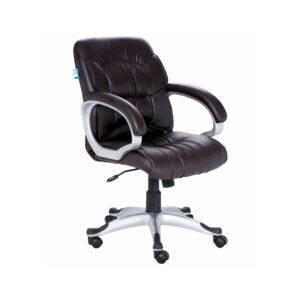 THE SIMPLEPIEL MEDIUM BACK CHAIR IN BLACK COLOR