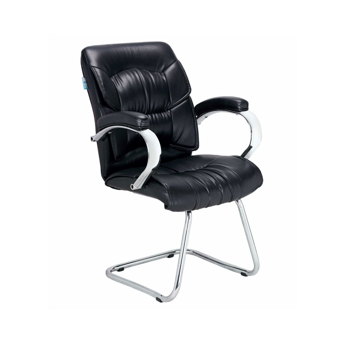 THE SIMPLEPIEL VISITOR MEDIUM BACK BLACK CHAIR IN BLACK COLOR