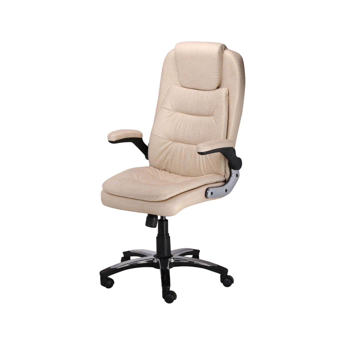 THE LARGAS EXECUTIVE HIGH BACK CHAIR IN DESIGNER CREAM COLOR