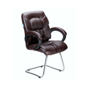 THE SIMPLEPIEL MEDIUM BACK VISITOR CHAIR IN BROWN COLOR