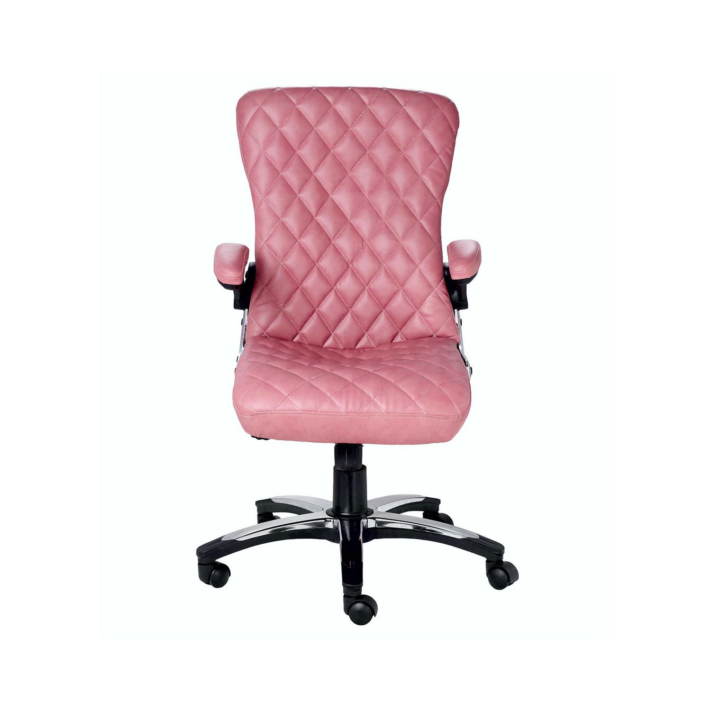 The X Mi Semi High Back Designer Chair In Dark Pink Color Vj Interior