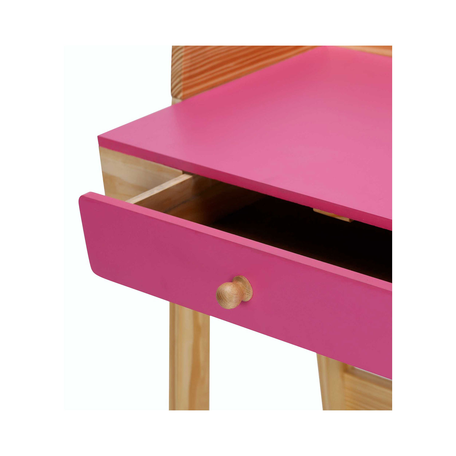 The Oasis Study Desk With Chair In Pink Color Vj Interior