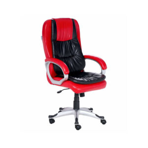THE ARRUGA EXECUTIVE HIGH BACK CHAIR IN RED AND BLACK COLOR