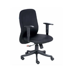 THE ESPUMA MEDIUM BACK CHAIR IN BLACK COLOR