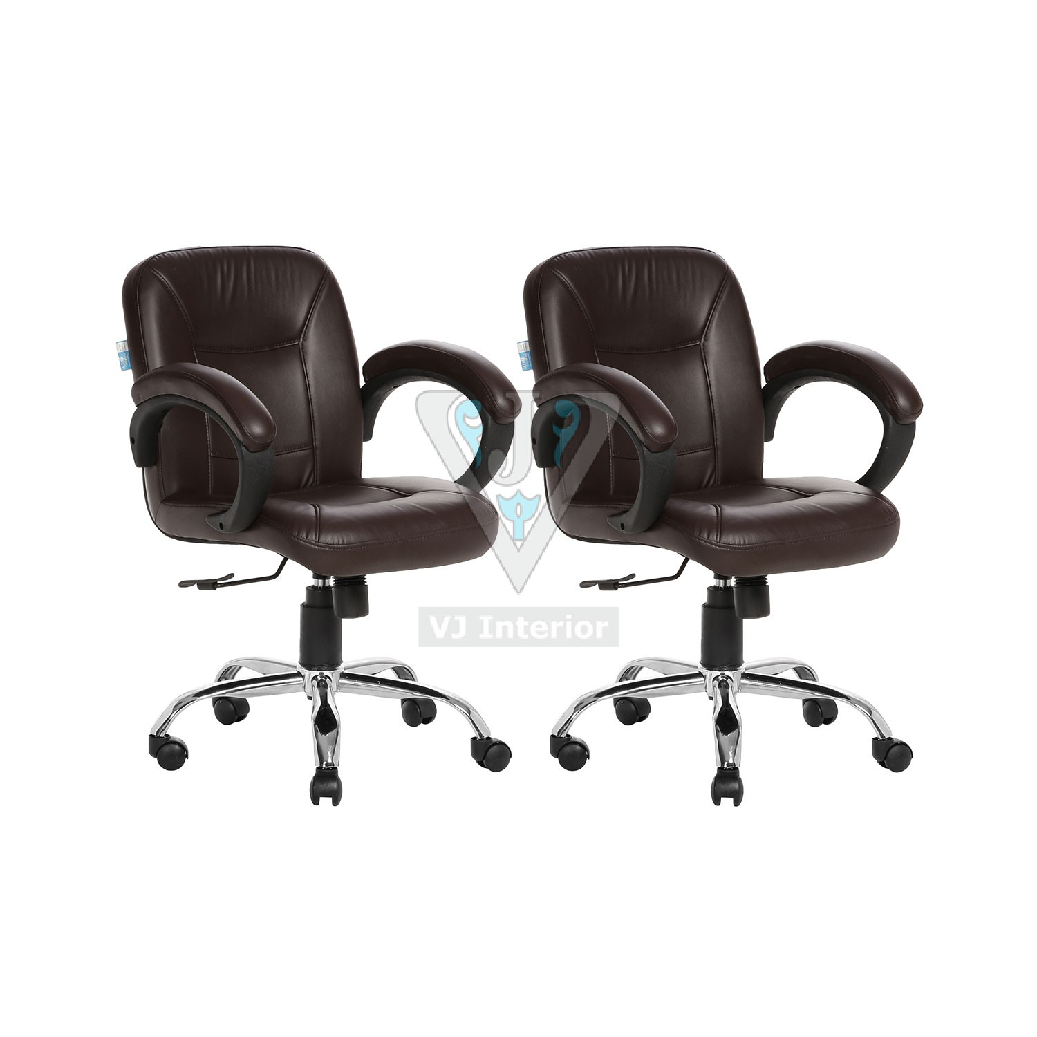 Buy One Get One Free Lowback Office Chair Brown Acabado