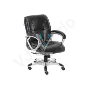 Garrura Mid Back Black Leather Executive Chair
