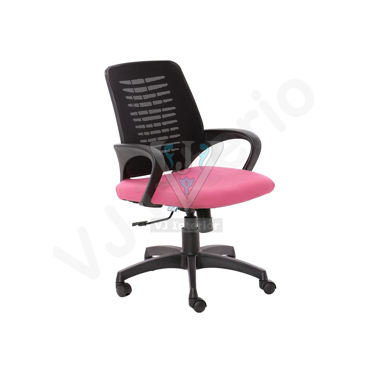 Costilla Black And Pink Ergonomic Office Chair