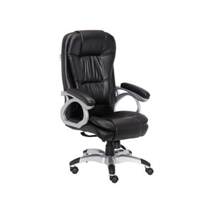 Black Leather Cascada High Back Executive Chair