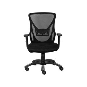 Mesh Mid Back Black Executive Chair With Black Wheelbase