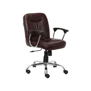 WORKSTATION CHAIR IN BROWN COLOR