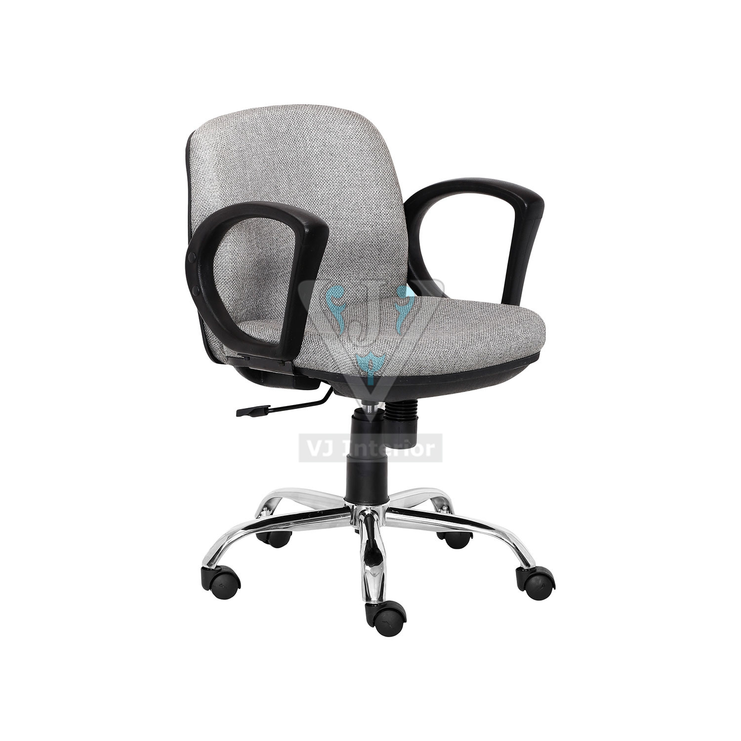 Pleasant Visitor Office Chair In Light Gray Color Theyellowbook Wood Chair Design Ideas Theyellowbookinfo