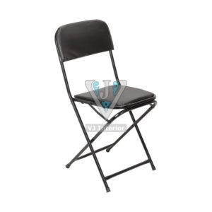 FOLDABLE LOW BACK CHAIR IN BLACK