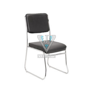 LEATHERETTE OFFICE CHAIR IN BLACK COLOR